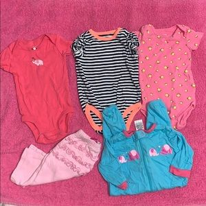 Carter's 5 piece 3 month baby girls lot